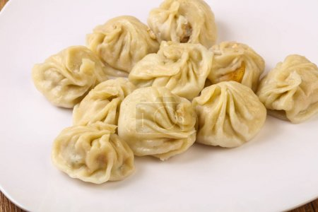 Chinese dumplings - Momo stuffed prawn, chicken, beef or pork