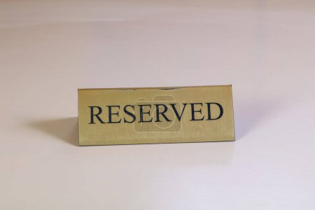 Reserved table in restaurant or cafe