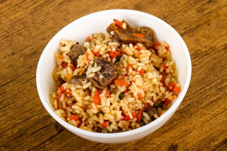 Asian rice - Plov with meat and carrot