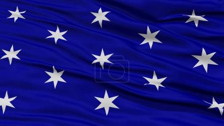 Photo for Closeup of Washington City Flag, Waving in the Wind, New York State, United States of America - Royalty Free Image