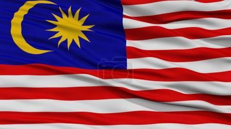Photo pour Drapeau de Malaisie closeup, ondulant dans le vent, rendu 3d - image libre de droit