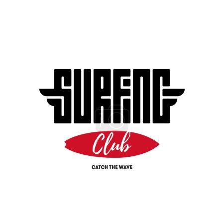 Surfing club label