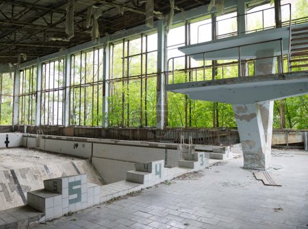 gym with swimming pool in Pripyat
