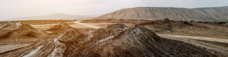 Panoramic view of mud volcanoes, Gobustan