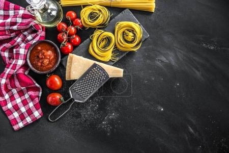 Composition of traditional Italian cuisine products