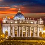 Basilica of Saint Peter in Vatican at beautiful su...