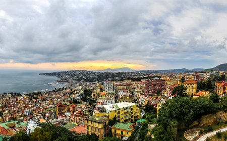Sunset over Naples, Italy