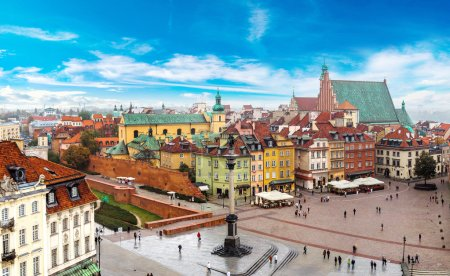 Warsaw on a summer day in Poland