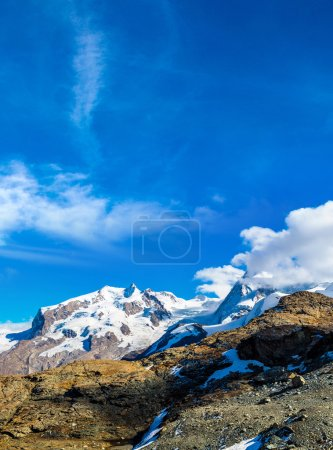 Photo for Alps mountain landscape in a beautiful day in Switzerland - Royalty Free Image