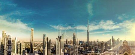downtown Dubai on a summer day