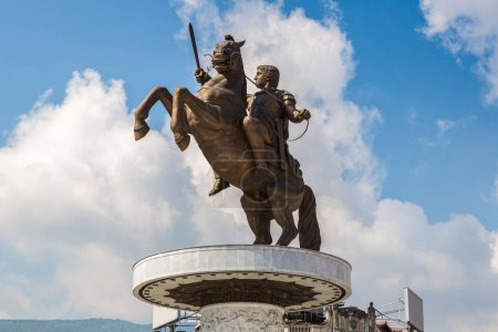 Alexander the Great Monument in Skopje in a beauti...