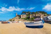 Beach at Tossa de Mar and fortress
