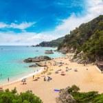 Beaches in Lloret de Mar in a beautiful summer day...