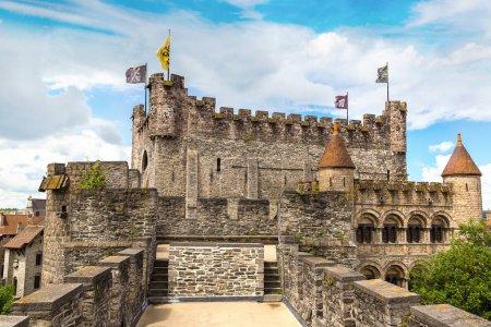 Medieval castle Gravensteen in Gent