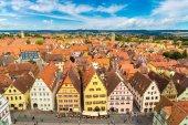 Panoramic aerial view of Rothenburg