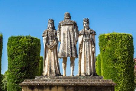 Statues  at the Alcazar in Cordoba