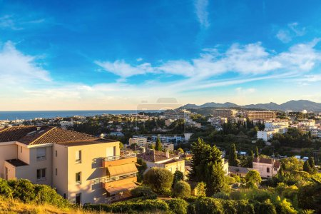 Panoramic aerial view of Nice