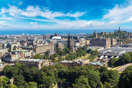 Photo for Panoramic aerial view of Edinburgh, Scotland, United Kingdom - Royalty Free Image