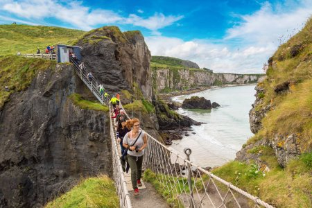 People at Carrick-A-Rede rope bridge