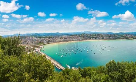Panoramic aerial view of San Sebastian