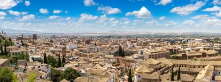 Panoramic aerial view of Granada