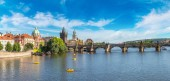 Panoramic view of Charles Bridge