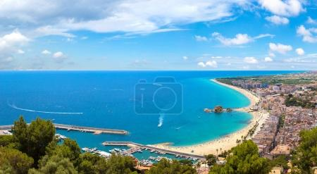 Panoramic aerial view of Blanes