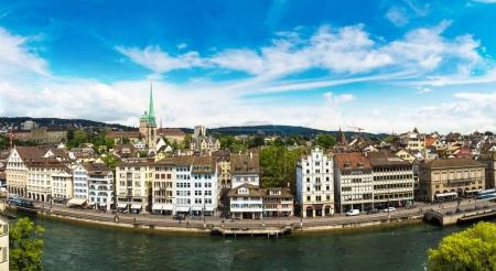 Panoramic aerial view of Zurich
