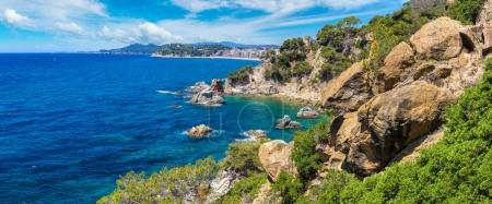 Rocks on the coast of Lloret de Mar