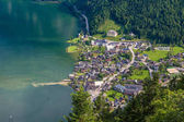 Panoramic view of Hallstatt city in Austria