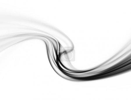 Photo pour Résumé Fumée Fond ondulé Modern Motion Puff - image libre de droit