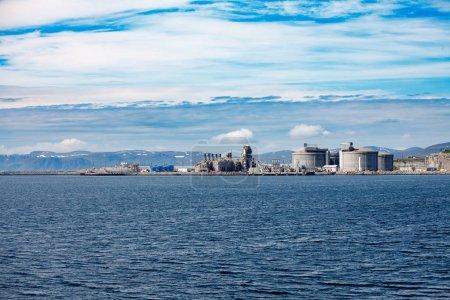 Hammerfest Island Muolkkut Northern Norway, gas processing plant