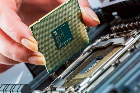 Photo for Modern processor and motherboard for a home computer - Royalty Free Image