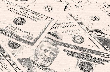 Money background grunge style