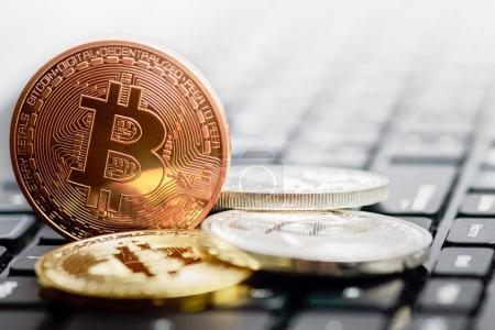 bitcoin on keyboard