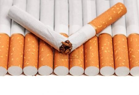 Broken cigarette background