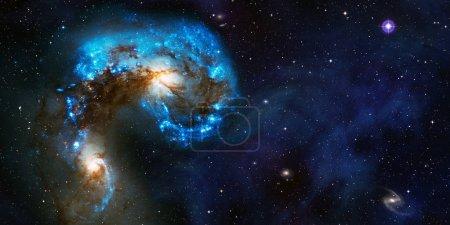 Foto de Fondo cósmico espacial de la nebulosa supernova y campo de estrellas con espacio de copia - Imagen libre de derechos