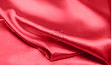 Photo pour Tissu de soie rouge toile fond - image libre de droit
