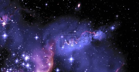 Photo for Nebula and galaxies in space. Abstract cosmos background. Elements of this image furnished by NASA - Royalty Free Image