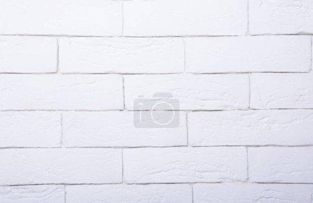 Photo pour Mur de briques blanches, gros plan - image libre de droit