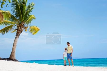 family of two at vacation