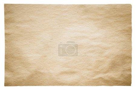 gros vieux papiers isolé sur fond blanc