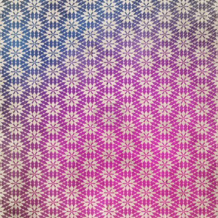 old retro pattern on grungy paper in pink colors