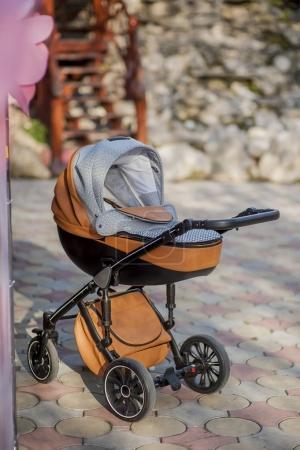 baby stroller abandoned kid family