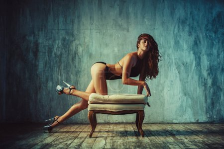 Slim woman portrait