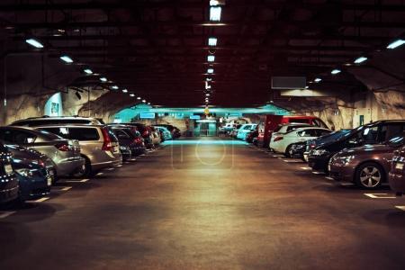 Modern underground parking