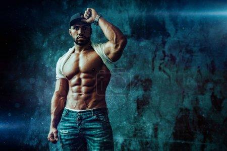 Strong man bodybuilder