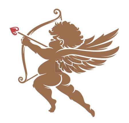 Vector Cupid Silhouette