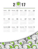 Futuristic 2017 vector calendar design Elements for your work Eps10