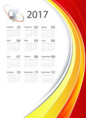 2017 vector corporate calendar design with globe and bright lines Elements for your work Eps10
